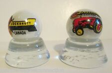 2 - COCKSHUTT TRACTORS OF CANADA LOGO MARBLES PEARL COLLECTOR MARBLES