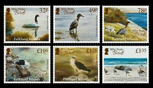 FALKLAND ISLANDS  2020, BIRD PAINTINGS BY MIKE PEAKE, PART 1, 6v., MNH