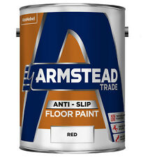 Armstead 5218568 5L Trade Anti-Slip Floor Paint - Red