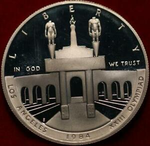 Uncirculated Proof 1984-S Olympiad Comm Silver Dollar