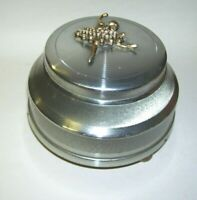 Antique Wind-up Music Box Trinket Box or Ashtray Ballerina Design on Lid