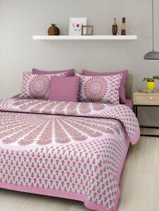 Queen Size bed sheet cotton Bedroom Set Bedding set Indien Peacock feather print