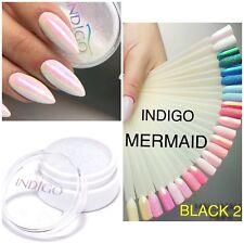 Indigo Nails Mermaid Black 2 Effect Nail Powder Glitter Dust Efekt Syrenki