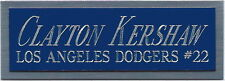 CLAYTON KERSHAW DODGERS NAMEPLATE AUTOGRAPHED Signed Baseball Display CUBE CASE
