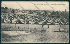Roma Manziana Militari PIEGA cartolina QK4095