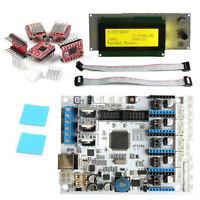 Carte GT2560 + LCD 2004 + 5pcs A4988 Pilotes pas à pas dissipateur thermique kit