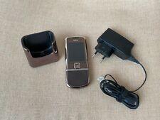 Téléphone Mobile Nokia 8800 Arte Sapphire Marron Debloque, Bureau, Chargeur