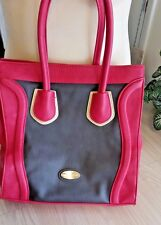 BIG BUDDHA WOMEN'S Soft  LEATHER-Like  HANDBAG TOTE LARGE Purse Bag VGUC