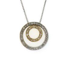 Effy-BH Double Circle Sliding Pendants, 14K Gold Diamond Pendant Necklace