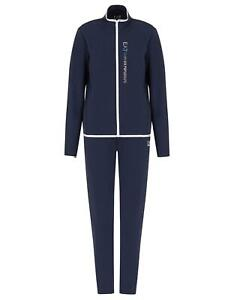 Tracksuit EA7 Emporio Armani 7 EA Woman Blue Jacket Pants Regular Fit