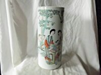 Antique Chinese Famille Rose Sleeve Vase with Qianlong Seal Mark