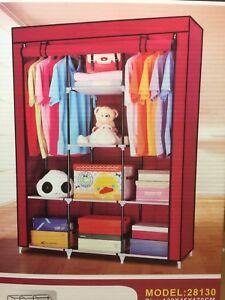 Canvas Bedroom Wardrobe Clothes Storage Pop Up Closet Shelving Unit Shoes
