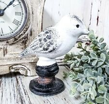New ListingWhite Iron Bird - Vintage Farmhouse Style Spring Summer Home Decor Accent