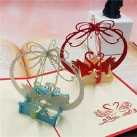 Stanzschablone 3D Welle Schwan Paar Hochzeit Geburtstag Weihnachten Geschenk DIY