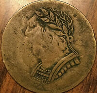 1820 LOWER CANADA BUST AND HARP HALF PENNY TOKEN