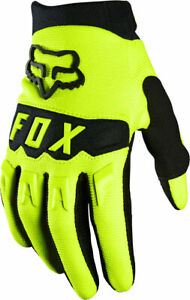 Fox Racing Youth Dirtpaw Full Finger Gloves   Fluorescent Yellow   M