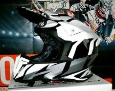 AIROH Helm Twist Great Grau Weiß XL Honda CR-F NEU Suzuki Scott FLY Ufo KTM Fox