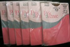 Lot Of 6 Pairs Park Avenue Ultra Sheer Control Top Panty Hose Taupetone New!