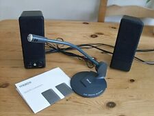 MINI SPEAKERS & MICROPHONE. IDEAL FOR SKYPE. VGC