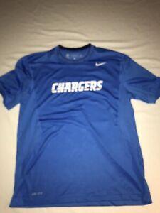 Nike LA Chargers Blue Compression Training NFL Dri-Fit Large T- Shirt BWOT!
