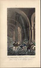 "ANTIQUE R. CRUIKSHANK H/C PRINT ""STRONG SYMPTOMS OF WATER ON THE BRAIN"" Ca 1826"