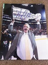 Darryl Sutter Signed 11x14 Photo LA Kings Stanley Cup 2012 Chicago Blackhawks