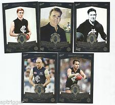 2014 Select 150 Years CARLTON Football Club - Brownlow Medallist (5 Cards)