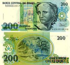 BRASILE Brazil - 200 cruzeiros 1990  FDS - UNC