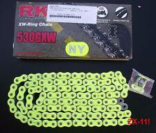 RK 530 GXW Chaîne,jaune,Honda CBR 1000 RR,Fireblade,SC57,SC59,120,RK530GXW