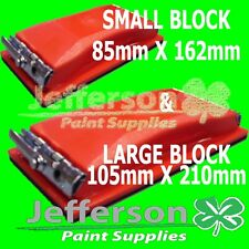 SMALL & LARGE Sanding Block Sand Paper Painters Panel Beaters Colour Sandpaper