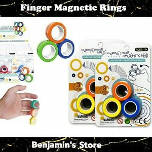 Finger Magnetic Rings Anti-stress Finger Toy Rotating Magnetic Ring AU stock