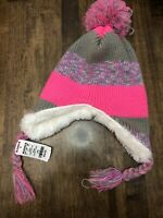 NTW $28 Girl's S/M Elli by Capelli Pink Hat with Faux Fur Lining