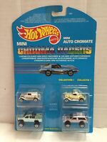 Mattel Hot Wheels Mini Auto Cromate COLLECTION I Micro Chroma Racers MOC, 1989