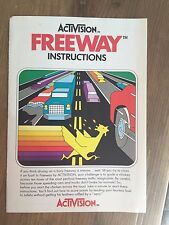 ACTIVISION FREEWAY Instruction Manual- Excellent Condition!