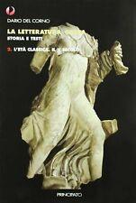 LA LETTERATURA GRECA STORIA E TESTI VOL.2-3 D.DEL CORNO PRINCIPATO 9788841627440