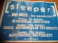 SLEEPER-TOUR POSTER SIGNED A0 SIZE