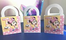 20 Disney Baby Minnie Mouse 1st Birthday Party Favor Loot Treat Boxes/ Bags F