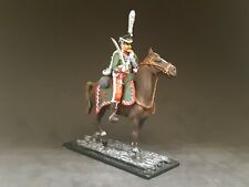 Russian Horseman Hussar 1812 Tin soldier 54 mm 1/32 HAND-PAINTED