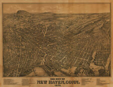 New Haven Ct panorama c1879 repro 30x24