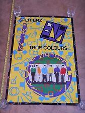 """RARE ORIGINAL 1980 SPLIT ENZ - TRUE COLOURS PROMO POSTER 24"""" X 36"""""""