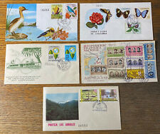 COLOMBIA  5  Beautiful  FIRST  DAY  Covers  UPTOWN