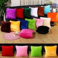 43cm Square Plush Fleece Pillow Case Cushion Cover Pillowcase Sofa Decor 34CA