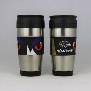 Baltimore Ravens NFL Officially Licensed 15oz Stainless Steel Tumbler w/ PVC Wra