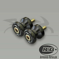 Ducati 899 Panigale 2015 R&G Racing Black M6 Cotton Reels Paddock Stand Bobbins