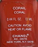 chanel nail polish CORAIL CORAL rare limited edition VINTAGE
