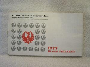 RUGER FIREARMS 1977 gun catalog poster