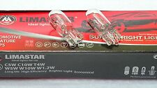 2x T10 w5w Glas Sockel Lampe Glühlampe Standlicht 12V 5W Standard Glühbirne LIMA