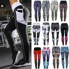 Womens Fitness Leggings Ladies Gym Sports High Waist Yoga Pants Stretch Trousers