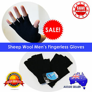 Sheep WOOL Winter Fingerless Gloves Warm Winter Unisex Ski Gloves Freesize