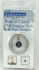 Travelon Stop & Lock 75 lb Luggage Scale with Tape Measure Travel Scale